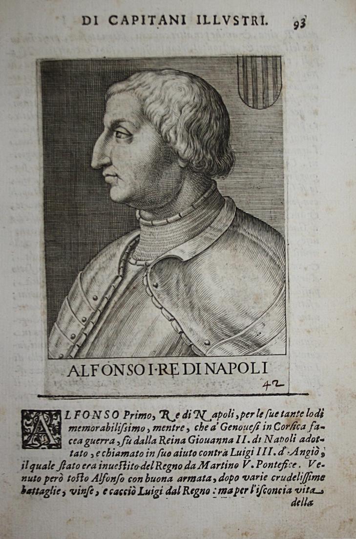 Alfonso I RE DI Napoli  Alfonso V d'Aragona (1396-1458) -- Valencia Sardegina Napoli Sicilia 0