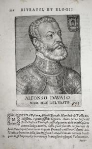 Alfonso Davalo Marchese Del Vasto Alfons d'Avalos (1502-1546) -- Milano Ischia Aquino Aragona Condottiero Ital