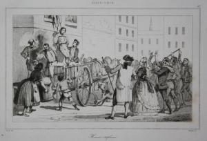 Homme emplume - man Mann sentenced verurteilt USA  Amerika America Stahlstich steel engraving antique print