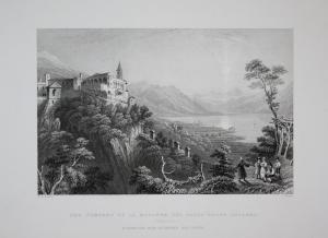 The Convent of la Madonna del sasso above Locarno Locarno Kloster Kanton Tessin Schweiz Switzerland Suisse Svi