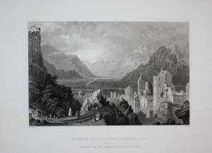 Ruins of the Episcopal Palace, Sion Schloss Bischofspalais Ruine Sitten Kanton Wallis Schweiz Switzerland Suis