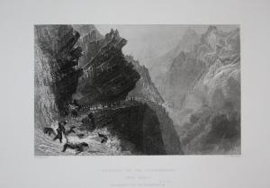 Passage of the Cardinells Splügen Kanton Graubünden Schweiz Switzerland Suisse Svizzera Ansicht view vue Stahl