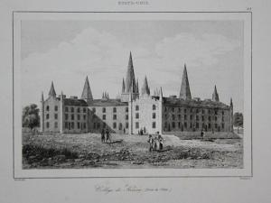 College de Kenion - Kenyon College Gambier Ohio Amerika America USA US Ansicht view Stahlstich steel engraving