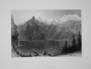 Lake at the Foot of the Blumlis Alp See Blüemlisalp Kanton Bern Schweiz Switzerland Suisse Svizzera Ansicht vi