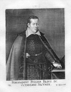 Ferdinand Fugger Kirchberg Weissenhorn Kupferstich Portrait engraving