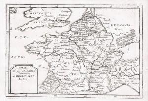 France Frankreich Belgien Belgique map Karte Kupferstich Duval gravure