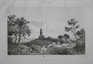 Vue du Lac Erie - Lake Erie Eriesee Amerika America USA US Ansicht view Stahlstich steel engraving antique pri