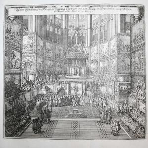 Wahre Abbildung der Königlichen Salbung Ludwigen des XIV. Königs in Frankreich, geschehen zu Rheims, den 7. Ju