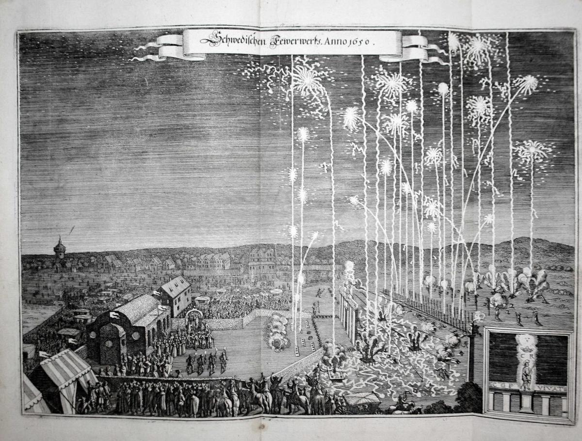 Schwedischen Feuerwerks. Anno 1650. 0