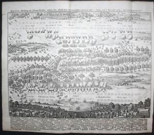 Eigentliche Abbildung des Haupt Treffens zwischen den Kays: und Schwedischen Armeen den 23 Octobr: und 2. Nove