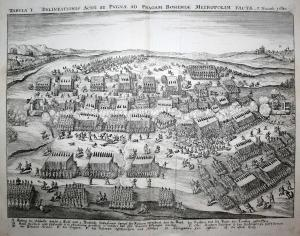 Tabula I. Delineationis Aciei et Pugnae ad Pragam Bohemiae Metropolim Factae 7. Nouemb. 1620 - Praha Prague Pr