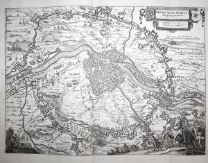 Obsidio Mosae-traiecti. Belagerung Mastrich - Maastricht Niederlande Belagerung siege Schlacht battle Karte ma