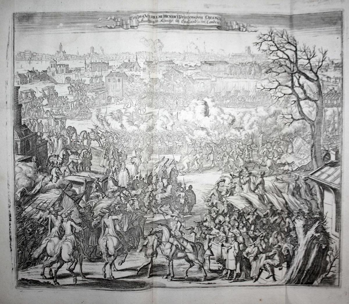 Einzug Wilhelmi Henrici Prinzen von Orange zukunfftigen Königs in England etc. in London. Einzug des Prinzen m 0