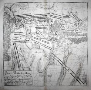 Plan der Battaille bey Blaregnies oder Malplaquet, Geschehen d. 11 Sept: 1709 - bataille de Malplaquet plan gr