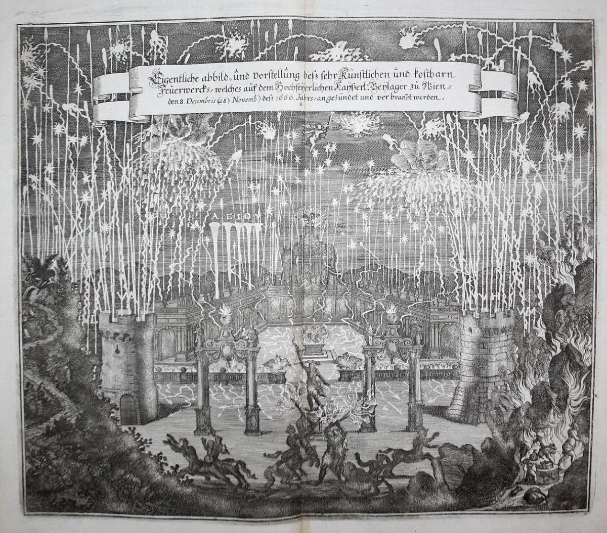 Eigentliche Abbild und Vorstellung dess sehr künstlichen und kostbarn Feuerwercks, welches auf dem hochfeyerli 0