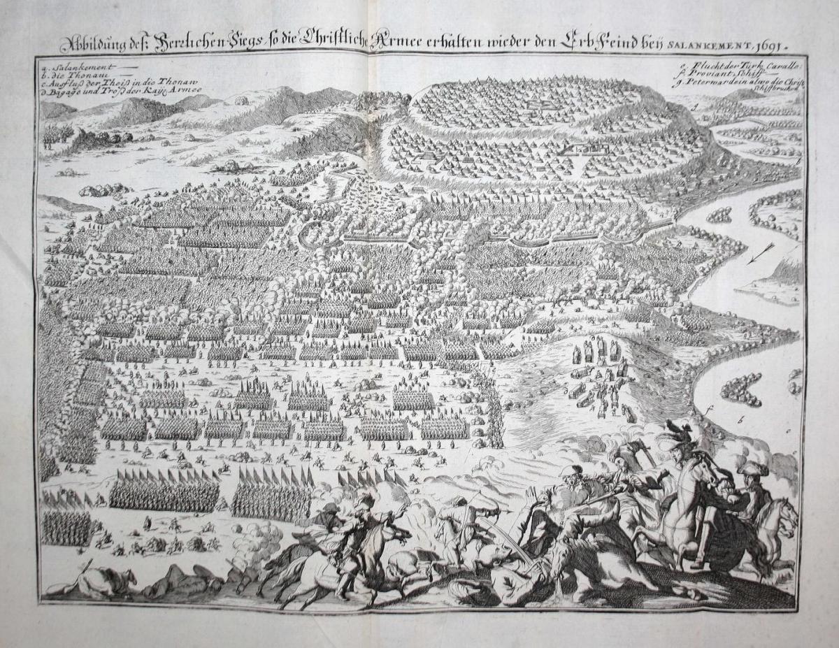Abbildung deß herzlichen Siegs, so die Christliche Armee erhalten wieder den Erbfeind bey Salankement, 1691 - 0
