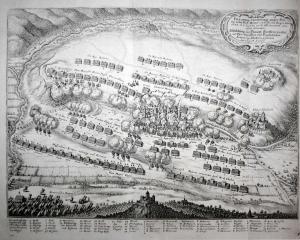 Abbildung des Haupt Treffens zwischen den Chur Bayrischen und Französischen Armeen bey Allerheim geschehen den