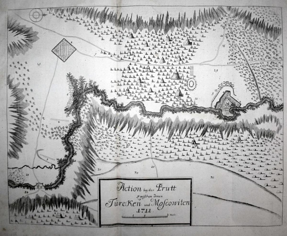 Action bey der Pruth Türken/Moscowitern, anno 1711 0