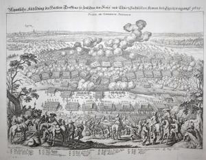 Eigentliche Abbildung des hartten Treffens so zwischen den Kays. und Chur Sachsischen Armeen bey Lignitz vorga