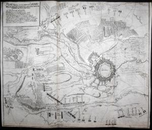 Plan General der Belagerung von Landau welche attaquirt worden . 1704 - Landau Belagerung Schlacht Karte map K