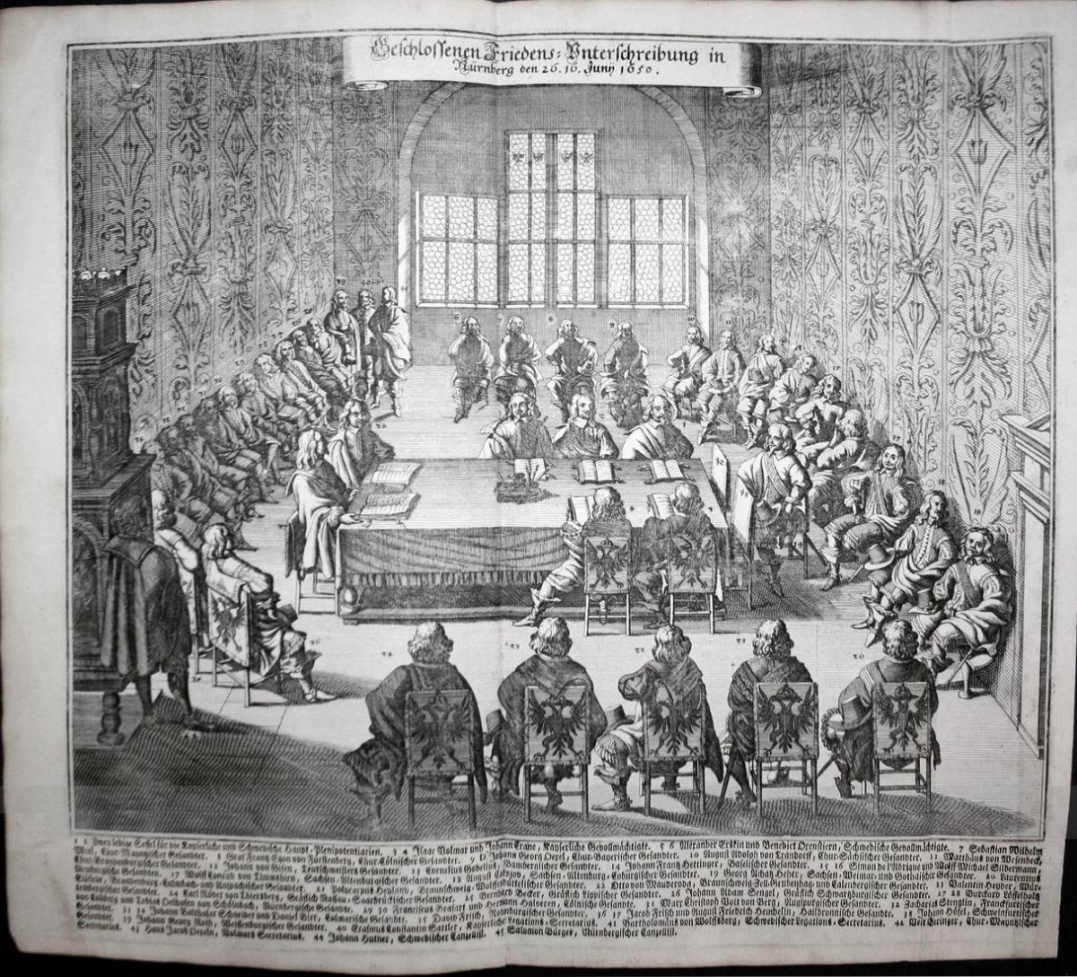 Beschlossenen Friedens Unterschreibung in Nürnberg Juni 1650. 0