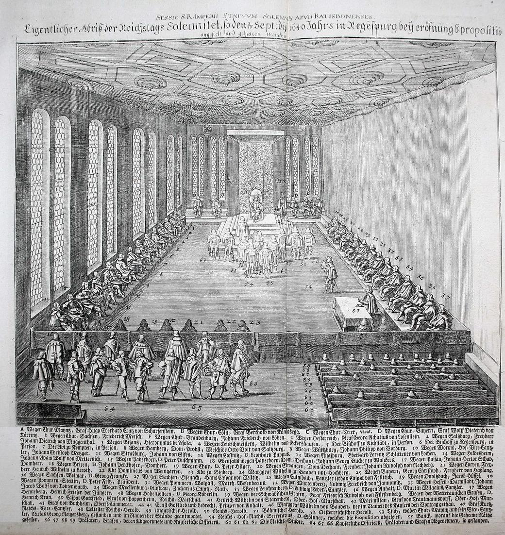 Eigentlicher Abriß der Reichtstags Solennitet, so den Sept: 1640 Jahrs in Regensburg bey eröfnung 8. propoliti 0