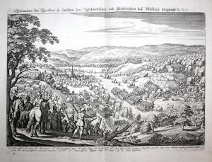 Delineation des Treffens so Zwischen den Schwedischen und Keyserischen bey Wiseloch vorgangen. Wiesloch im 30