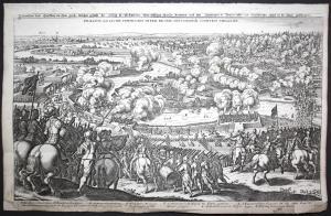 Delineation deß Treffens an dem Lech, welcher gestalt der König in Schweden über selbiges Wasser kommen und He