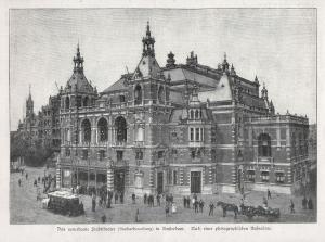 Das neuerbaute Stadttheater (Stadsschouwburg) in Amsterdam. - Stadsschouwburg Theater Amsterdam Netherlands Ni