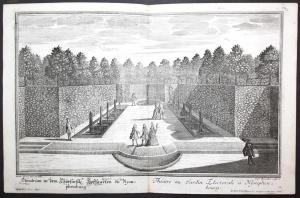 Theatrum in dem Churfürstl. Hoffgarten zu Nymphenburg.  -- München Schloß Nymphenburg Garten Gartenarchitektur