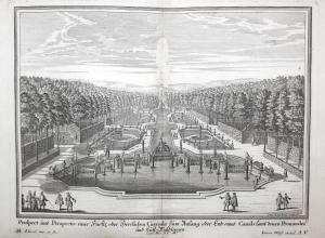 Prospect und Perspectiv einer Fürste oder herrlichen Cascade zum Anfang oder End eines Canals samt denen Promi