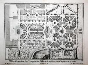 Wahrer Grundriß deß Graf Königsfeldischen Lustgarten zu Egloßheim unweit Regensburg in Cartaus. -- Altegloshei