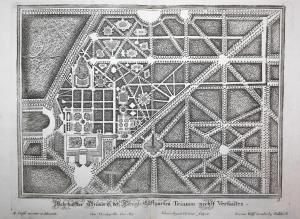 Wahrhaffter Grundriss des königl. Lustgarten Trianon nechst Verfailles. -- Grand Trianon Paris Versailles gard