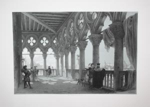Billmark - Venezia Venice Venedig Palazzo Ducale Italy Italia Ansicht view Lithographie lithograph Litho