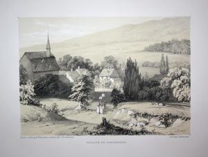 Village of Schönberg - Schönberg Kronberg Taunus Hessen Ansicht view Lithographie lithograph Litho