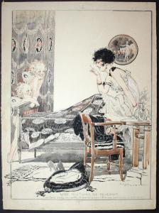 Une Histoire de Revenant - La Vie Parisienne magazine cover Art Deco