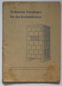 Technische Unterlagen für den Kachelofenbau (Technische Daten und Zeichnungen).