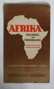 Afrika. Kolonial- und Verkehrskarte von der Ostsee bis zum Kap - von Dakar bis zum Aralsee.