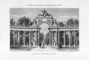 Porte de la Colonnade a Postdam - Colonnade Tor Potsdam Ansicht view Holzstich woodcut