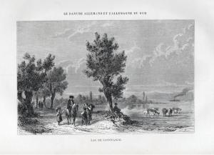 Lac de Constance - Bodensee Lake Constance Ansicht view Holzstich woodcut