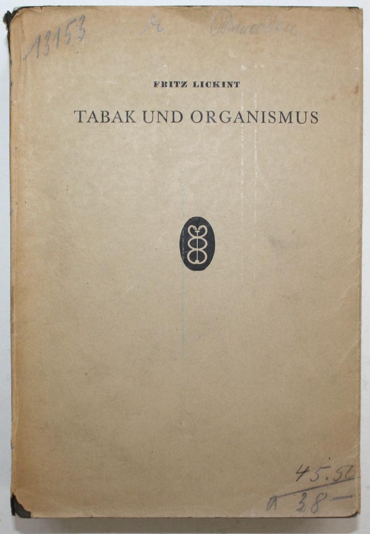 Tabak und Organismus. Handbuch der gesamten Tabakkunde. 0