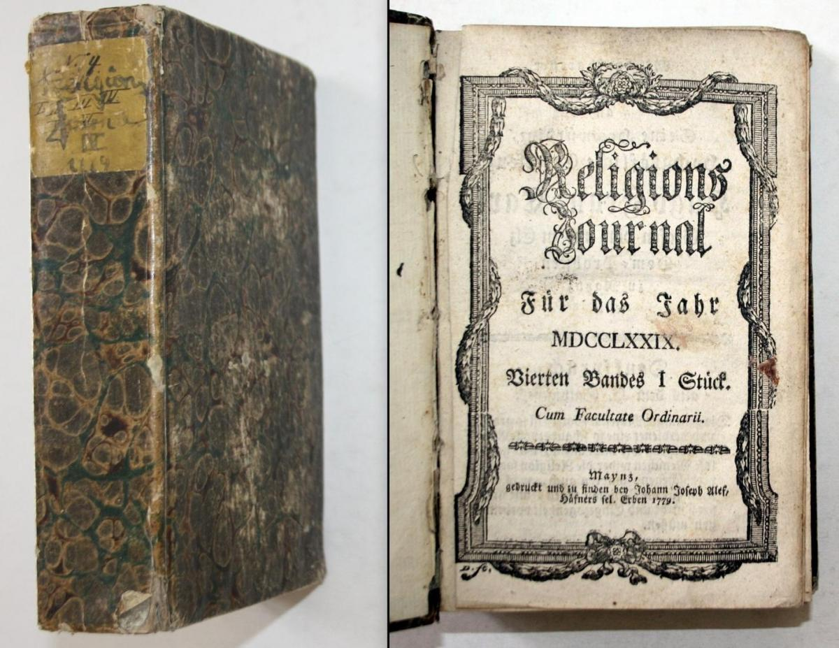Religions Journal für das Jahr MDCCLXXIX (1779) - 6 Teile in 1 Band. 0
