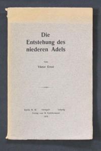 - Die Entstehung des niederen Adels Viktor Ernst
