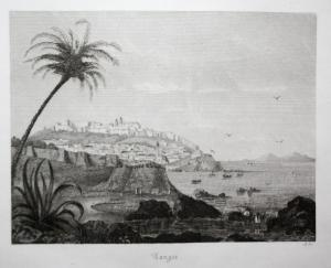 Tanger - Tanger Tangier Marokko Morocco Ansicht view Stahlstich steel engraving antique print