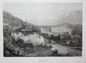 Nazareth. - Nazareth Israel Ansicht view Stahlstich steel engraving antique print