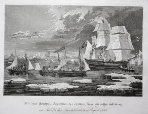 Die letzte Nordpol-Expedition des Capitain Ross und dessen Auffindung. - Nordpol Northpole Expedition James Cl