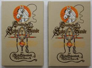 Deutsche Fahrkunde. 2 Bände. Band 1: Das Pferd. Band 2: Fahrkunst und Wagen.