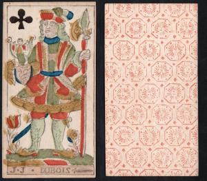 (Kreuz Ritter) - Original 18th century playing card from Liege (by Dubois) / carte a jouer / Spielkarte - Taro