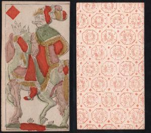 (Karo Bube) - Original 18th century playing card from Liege (by Dubois) / carte a jouer / Spielkarte - Tarot