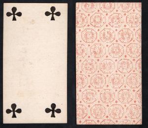 (Kreuz 4) - Original 18th century playing card from Liege (by Dubois) / carte a jouer / Spielkarte - Tarot